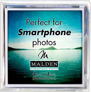 Malden International Designs Acrylic Photo Cube, 6 Option, 6-4x4, Clear