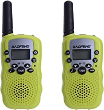 BAOFENG BF-T3 Kids Walkie Talkies Mini Two Way Radios for Boys Girls Children Toddlers Long Range UHF 462-467MHz Frequency 22 Channels (2 Pack, Green)