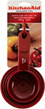 KitchenAid Plastic Measuring Cups, Set of 4, Red