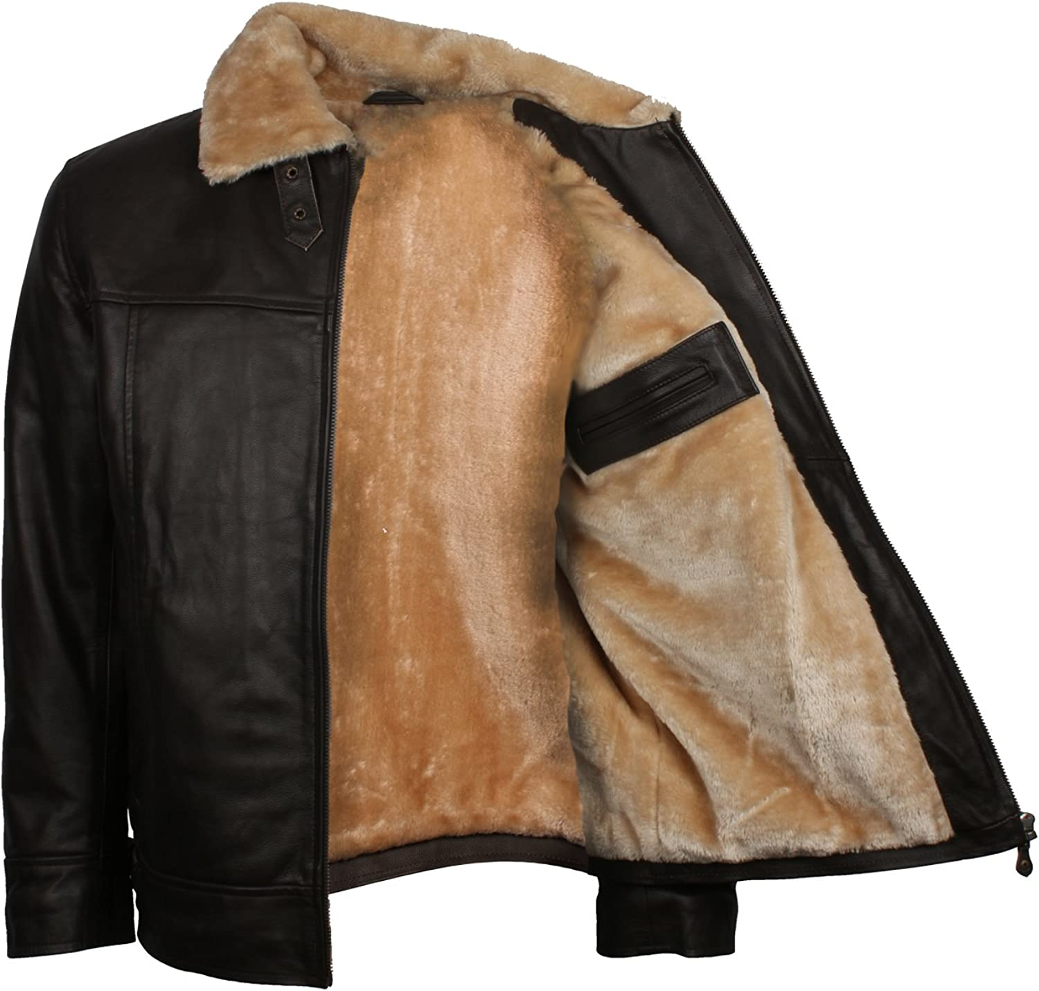 Manufacturer regenerated product Leatherobe Winters Wear Mens Fashion Fur Bro Lining Classic Faux Lowest price challenge