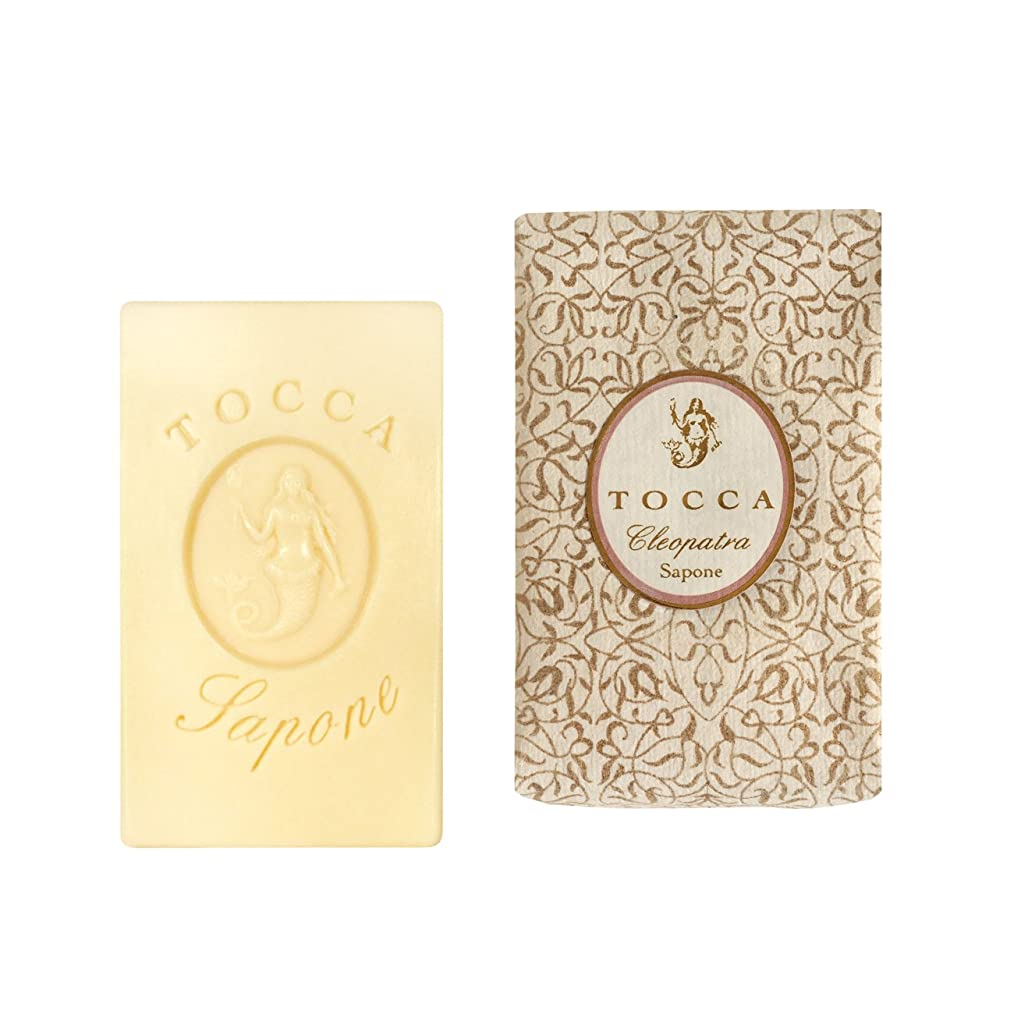 ポーチ眉をひそめる表示トッカ(TOCCA) ソープバー クレオパトラの香り 113g(石けん 化粧石けん グレープフルーツとキューカンバーのフレッシュでクリーンな香り)