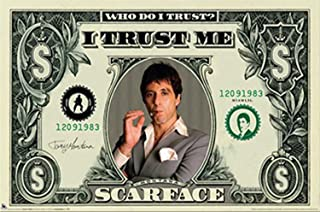 Beyond The Wall Scarface Money Cult Classic Crime Drama Action Movie Film Poster Print 11 by 17