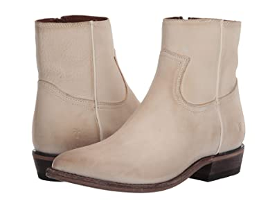 Frye Billy Inside Zip Bootie (Ivory Nubuck) Women