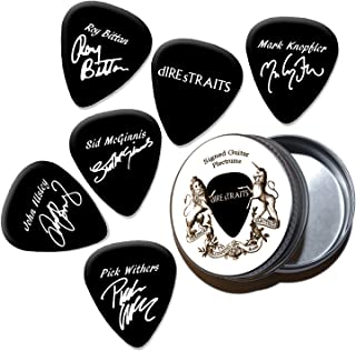 Dire Straits Mark Knopfler Black Púas de guitarra con estaño Tin (HB)