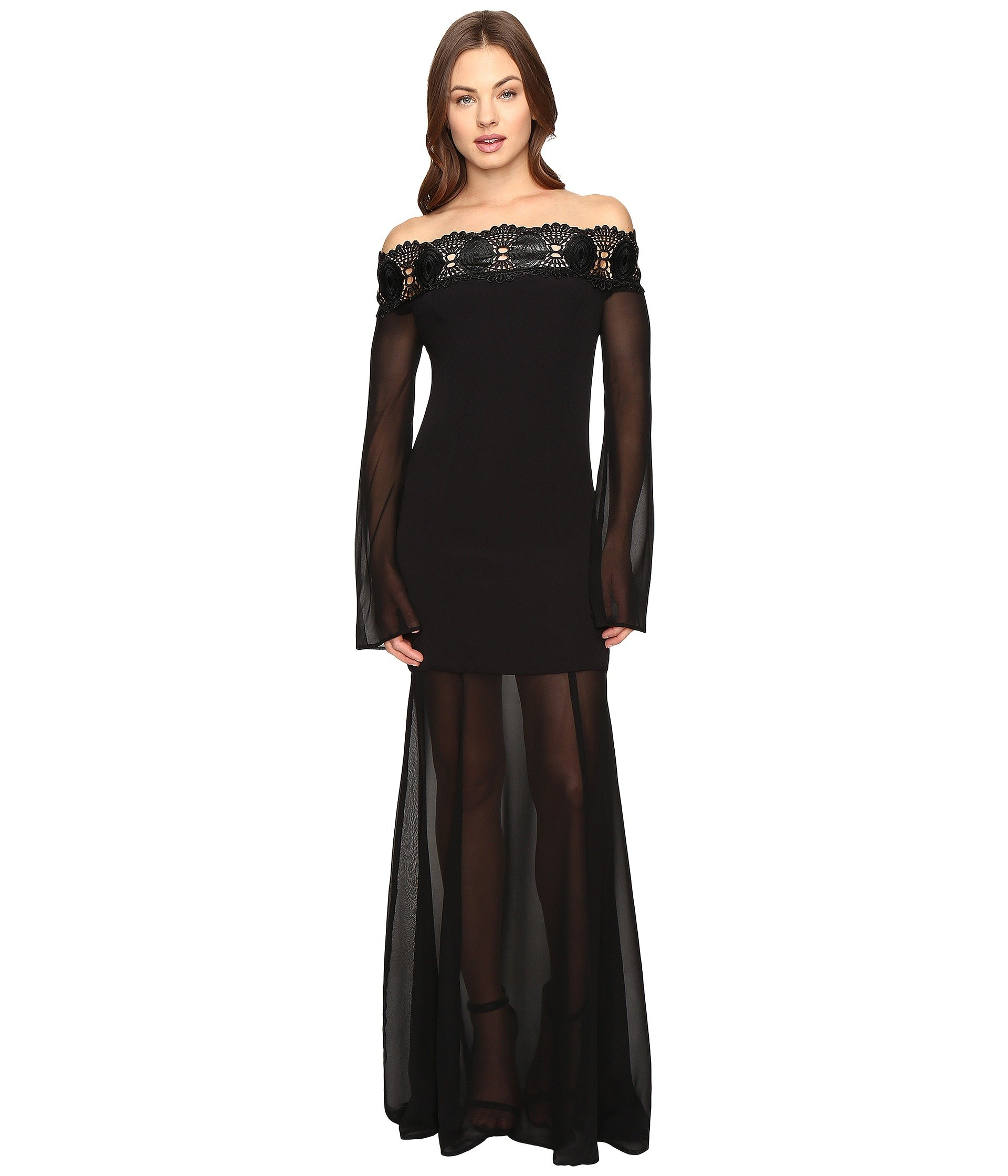 STONE COLD FOX Irina Gown, Black