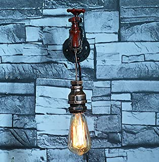 Elegent Retro Wrought Iron Craft European Water Pipe Wall Lamp Handmade Creative Home Lighting Bar Horse Steel Pipe E27 Lamp Chandelier Cozy