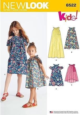 1a21c6ddb1e2f Simplicité New Look Enfant et Filles Robes et Top Patron de Couture