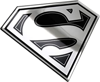 Fan Emblems Superman Logo Car Decal, Lensed Chrome and Black