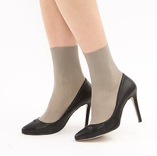 [靴下屋]クツシタヤ ラッセルリブソックス 22.0~25.0cm 日本製 無地靴下