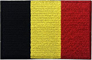 Belgium Flag Embroidered Belgian National Emblem Iron On Sew On Patch