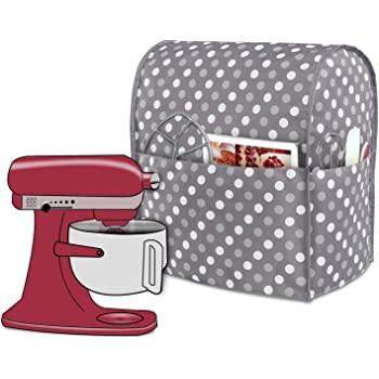 Y08 Kitchen Aid Mixer Dust Cover,Diamond Collection Stand Mixer Small Appliances Cover with Pockets,Compatible with All Tilt Head/&Bowl Lift 5-8 Quart Kitchen Aid Mixers