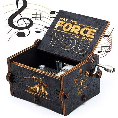 Carillon di Legno Tema di Star Wars, Scatole Musicali in Legno Intagliate a Mano e Intagliate a Mano Creativi I Migliori Regali
