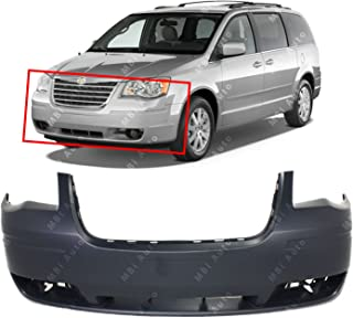 MBI AUTO - Primered, Front Bumper Cover Fascia for 2008 2009 2010 Chrysler Town & Country W/o Wash 08-10, CH1000927