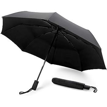 canop/ée 210T Tissu Ouverture et Fermeture Automatique Leebotree Parapluie Pliant Coupe-Vent Parapluies de Voyage et Sorties en Plein air Parapluie Invers/é Compact et Pliable
