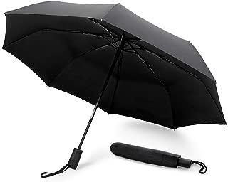 GadHome - Paraguas Automático Negro | Paraguas de Viaje Compacto a Prueba de Viento de 29 cm para Hombre y Mujer | Paraguas Plegable de Mano Ligero Resistente que se Abre con 1 Toque