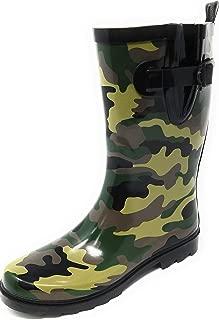 Women's Rubber Rain Boots Mid-Calf 11