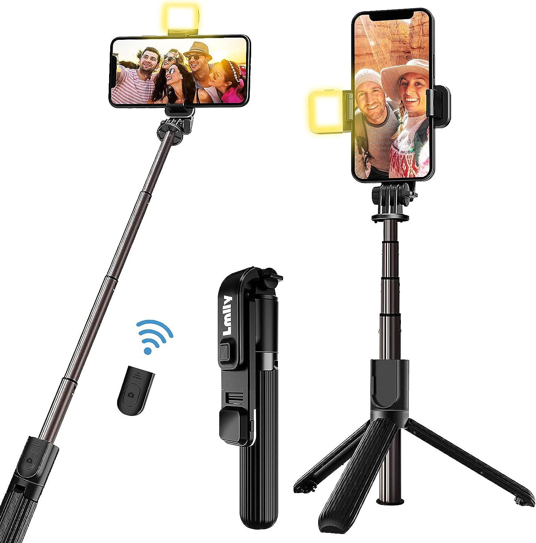 Selfie Stick Tripod with Fill Light Bluetooth Detachabl 5 ☆ Classic popular Wireless