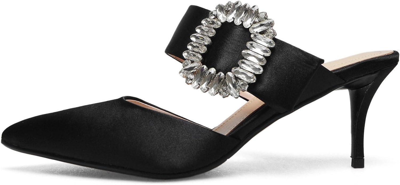 Unbekannt Damen Sandalen Wies High Heel Flip Flip Flop Strass Fein mit, Schwarz, 42  erstklassige Qualität
