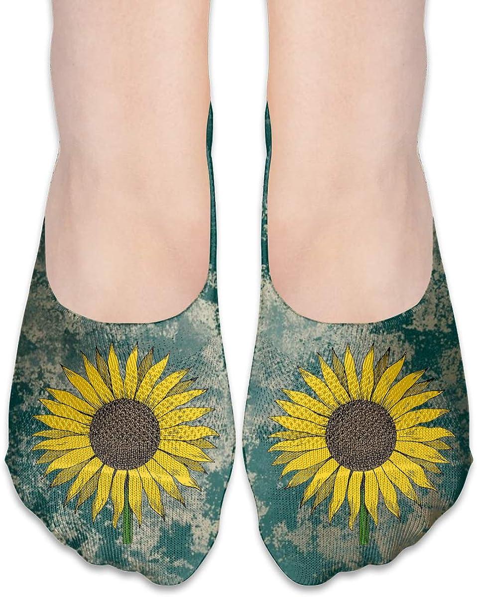 Sunflower Vintage Fashion Non Slip Flat Boat Line Socks For Womens Girls
