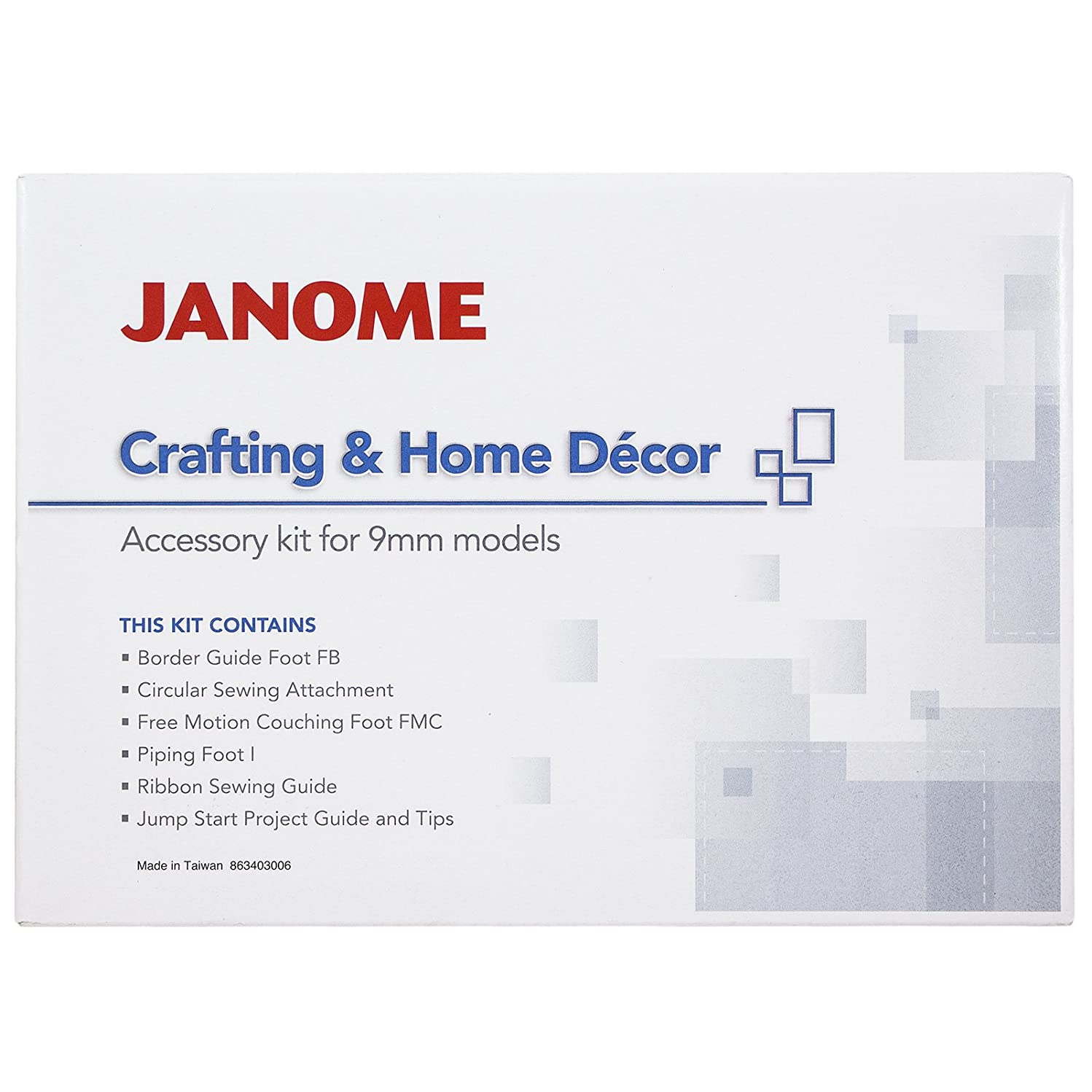 Janome Crafting & Decor Accessory Kit for 9mm machines
