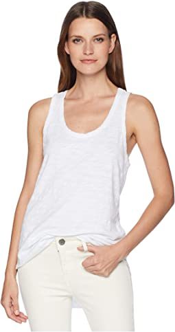 Go To Soft Slub Shirt Tail Tank Tee