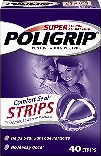 Super Poligrip Comfort Seal Denture Adhesive Strips, 40 Count