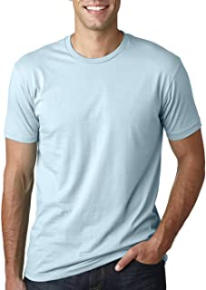 Mens Premium Fitted Short-Sleeve Crew T-Shirt - Heavy Metal + Light Blue (2 Pack) - X-Large