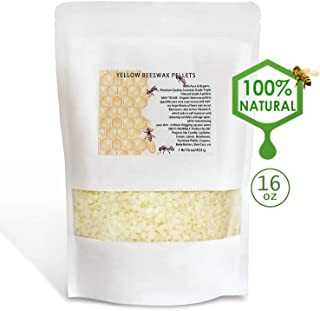 XYUT White Beeswax Pellets 16 oz 100% Pure and Natural Triple Filtered for Skin, Face, Body and Hair Care DIY Creams, Lotions, Lip Balm and Soap Making Supplies.