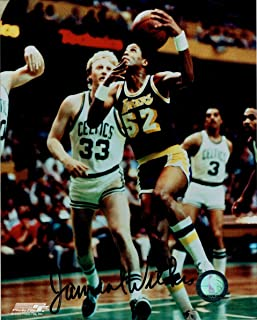 Jamaal Wilkes Hand Signed Autographed 8x10 Photo Los Angeles Lakers v Larry Bird