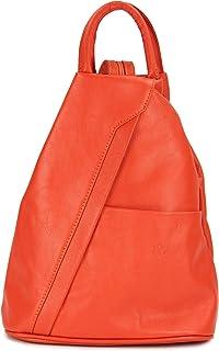 Belli City Backpack leichte italienische Leder Damentasche Rucksack Handtasche - 29x32x11 cm B x H x T