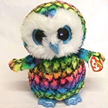 Motonupic Ty Beanie Boos 6 Quot 15cm Aria The Rainbow Owl Plush Regular Soft Stuffed Animal Collectible Doll - Platypus Giraffe Tracker Dragon Under Guide Bracelet Yellow Turt
