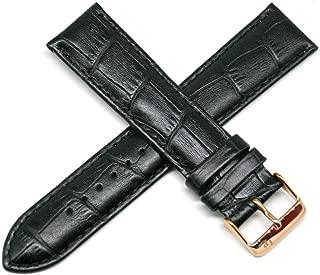 Lucien Piccard 22MM Alligator Grain Genuine Leather Watch Strap 8.5