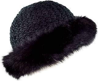 Genuine Star Knit Hat with Faux Fox Fur Cuff - Winter Fashion Winter Hat