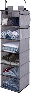 "StorageWorks Hanging Closet Organizer, 6-Shelf Dorm Room Closet Organizers and Storage, Gray, 42""H x 12""W x 12""D"
