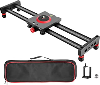 Neewer Camera Slider Carbon Fiber Dolly Rail, 16 inches/40 Centimeters with 4 Bearings..