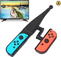 [2019 New Version] Fishing Rod for Nintendo Switch, Fishing Game Accessories Compatible with Legendary Fishing,Switch Joy-Con Accessories, Fishing Game Kit for Switch Controller Bass Pro Shops Black