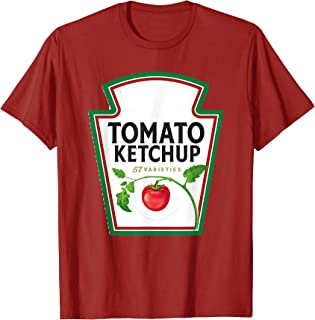 Ketchup Condiments Couples and Group Halloween Costumes T-Shirt