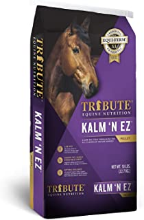 Kalmbach Feeds Tribute Kalm 'N Ez Pellets for Horse, 50 lb
