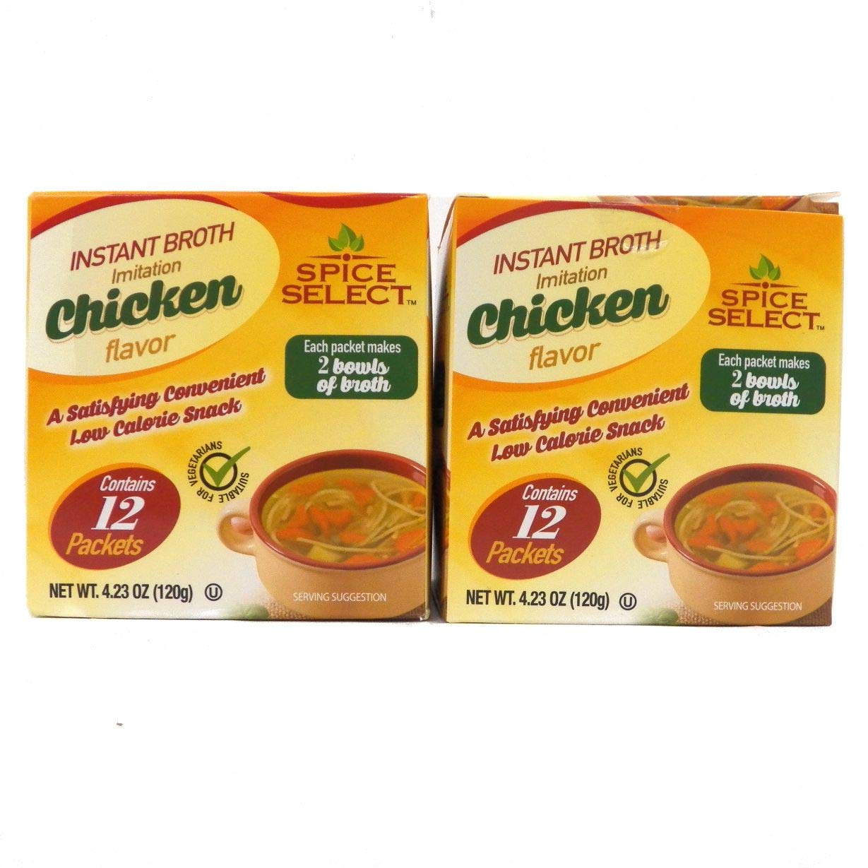 Spice Select Instant Broth Imitation of boxes Flavor Chicken Max 58% OFF 2 2021 model