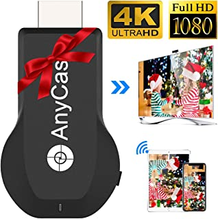 4K&1080P Wireless HDMI Display Adapter,Iphone Ipad Miracast Dongle for TV,Upgraded Toneseas Streaming Receiver,Macbook Laptop Samsung Android Phones,Business Education Thanksgiving Christmas Day Gift