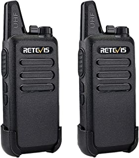 Retevis RT22 2 Way Radio Walkie Talkies 16 Channels CTCSS/DCS TOT VOX Scan Squelch 2 Way Radio(2 Pack,Black)