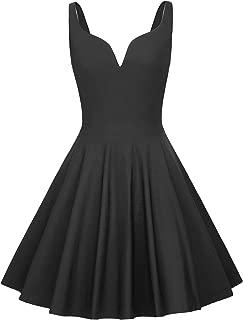 GRACE KARIN Women Sleeveless Plunge V Neck Swing Cocktail Dress