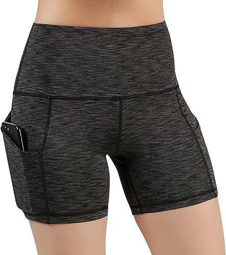 Navy Teal Grey Power Flex Yoga Short Tummy Control Workout Running Athletic Non See-Through Yoga Shorts
