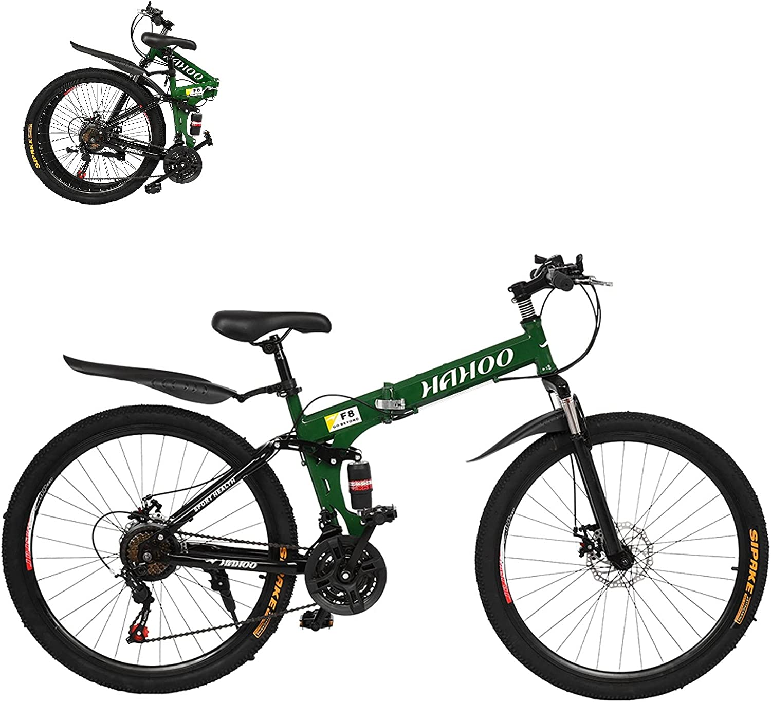 Complete Free Shipping 26In Foldable Bicycle Mountain Latest item Bike - Steel Speed Carbon 21 High