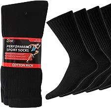 20 Pairs Mens Cotton Rich Sport Socks Work Socks Shoe Size 6-11