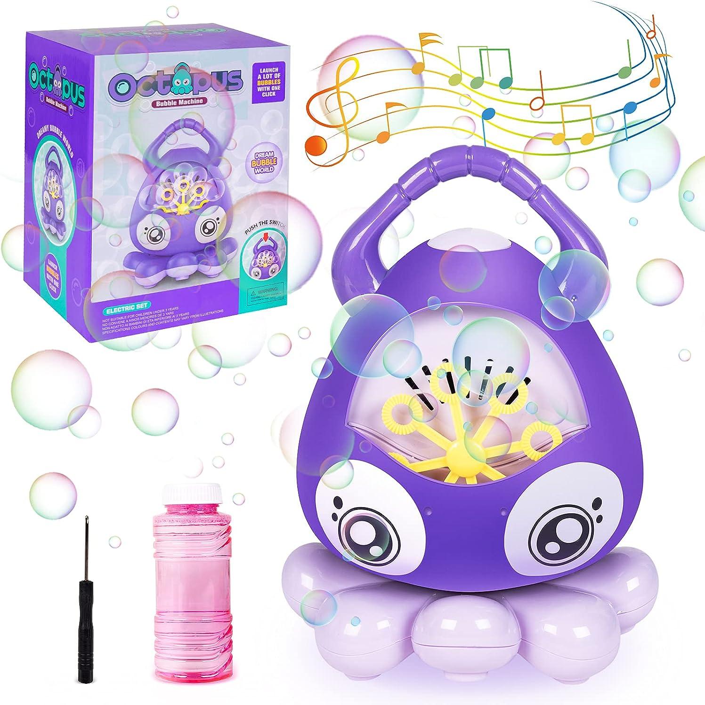 My OLi Bubble Machine Automatic Bubble Blower, Portable Music Bu
