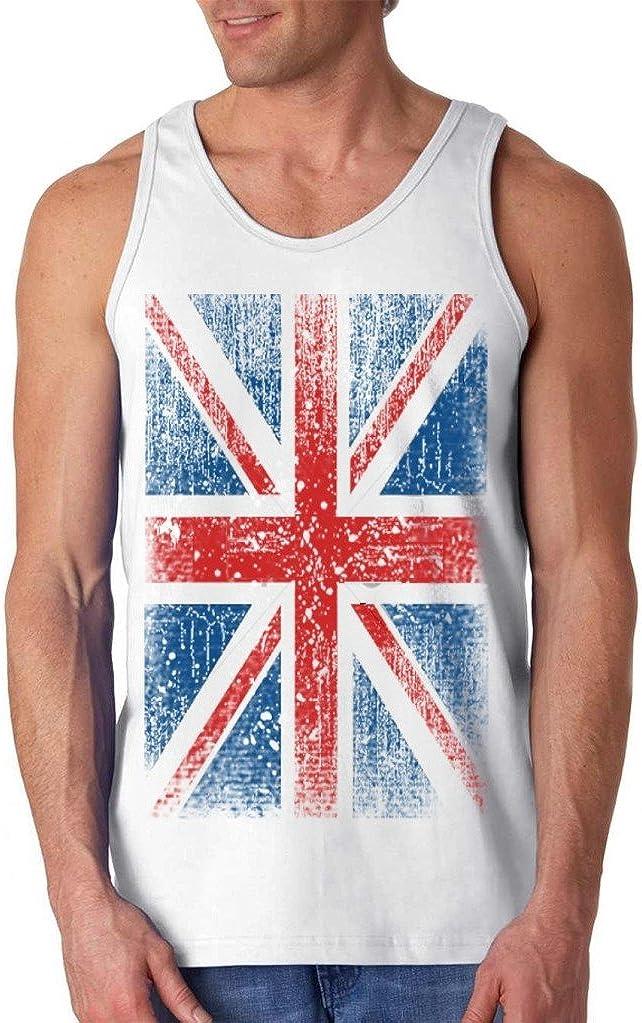 shop4ever Union Jack Vintage British Flag Men's Tank Top United Kingdom Flag Tank Tops