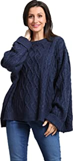 Women's Plus Size Casual Knit Long Sleeve Oversize...