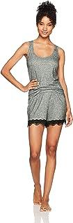 Selene Women's Knit Sleeveless Racerback Tank Top and Shorts Pajama Set Soft PJ Sets Laced-Bottom