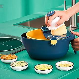 Trancheur de Mandoline,Coupe-légumes Multifonction Veggie Cutter Cuisine Food Cutter Manuel Coupe-oignon Dicer avec Récipi...